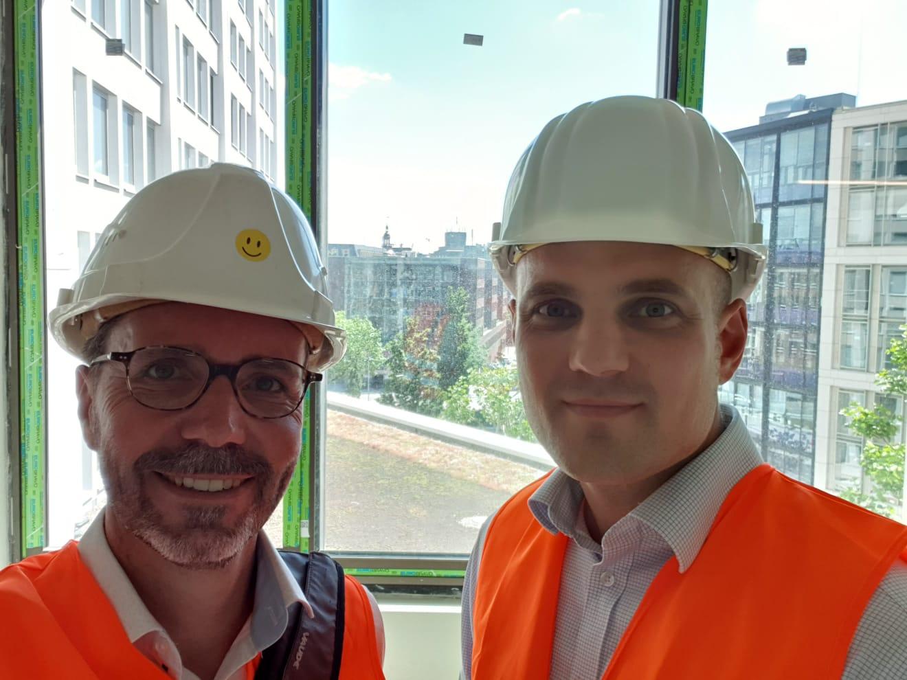 Unser Prokurist Marc Schnitger und unser Geschäftsführer Thomas Helbig.